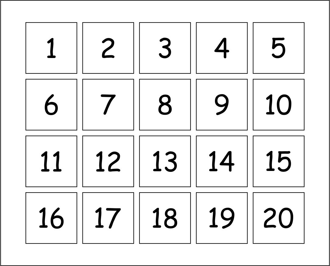 Multiplication Flash Cards Printable Numbers 1-10 Flashcards