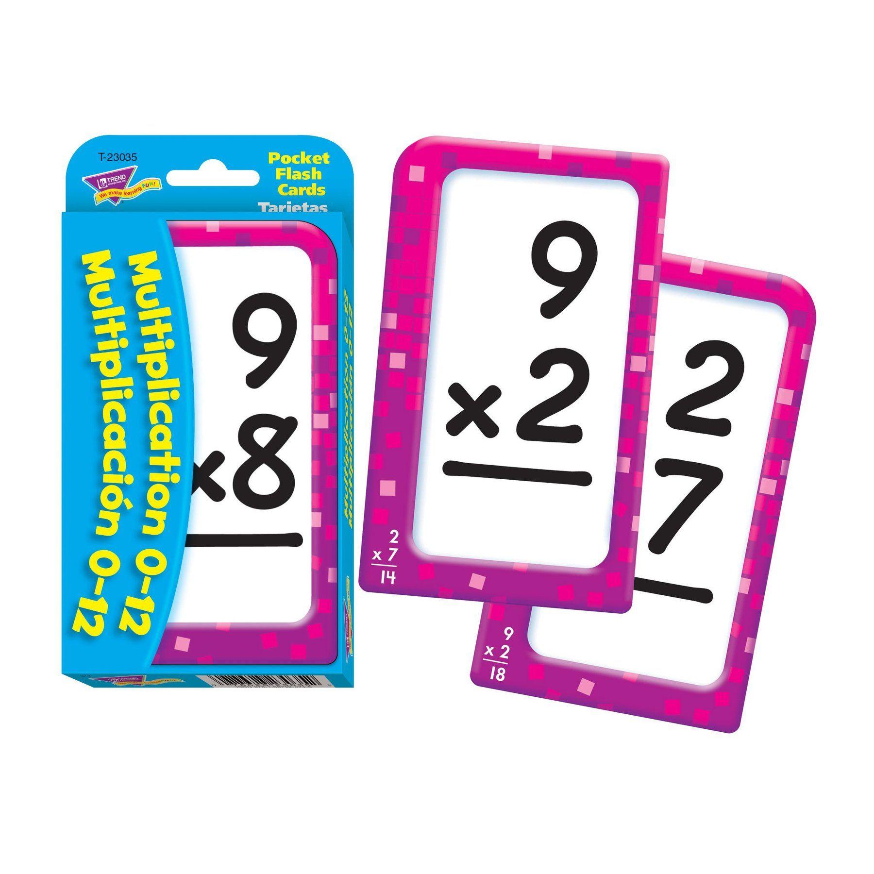 Multiplication/multiplicación (English/spanish) Pocket Flash