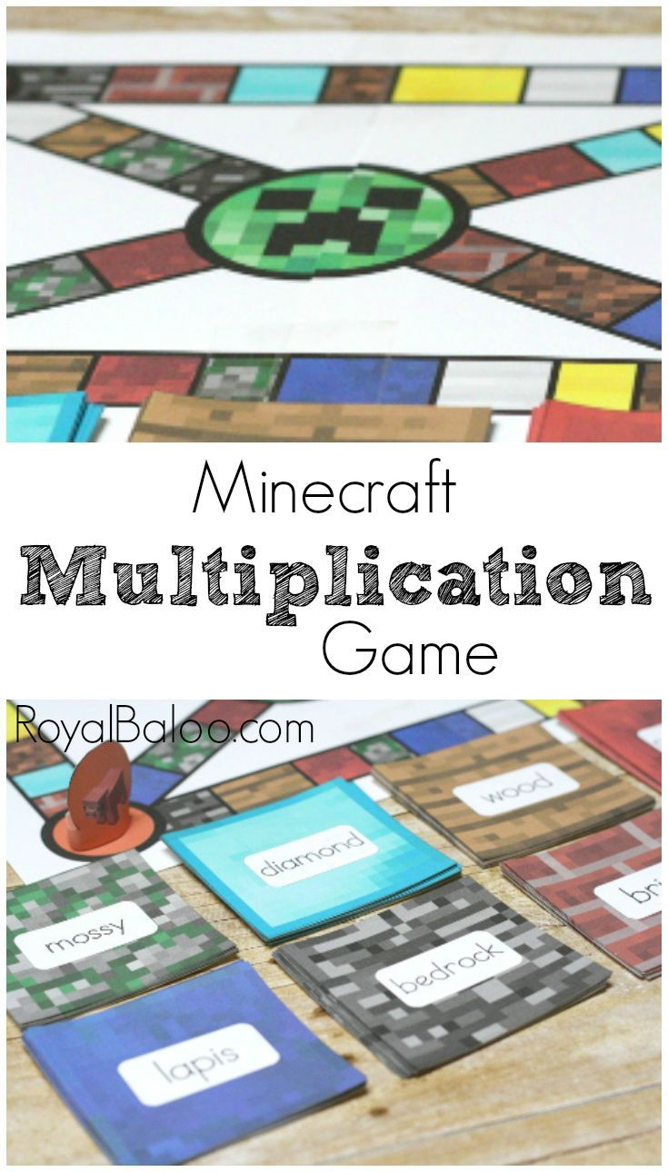 Multiplication Practice With Minecraft Multiplication Game