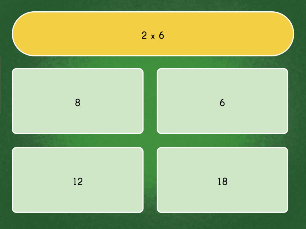 Multiply6 Quiz   Game   Education