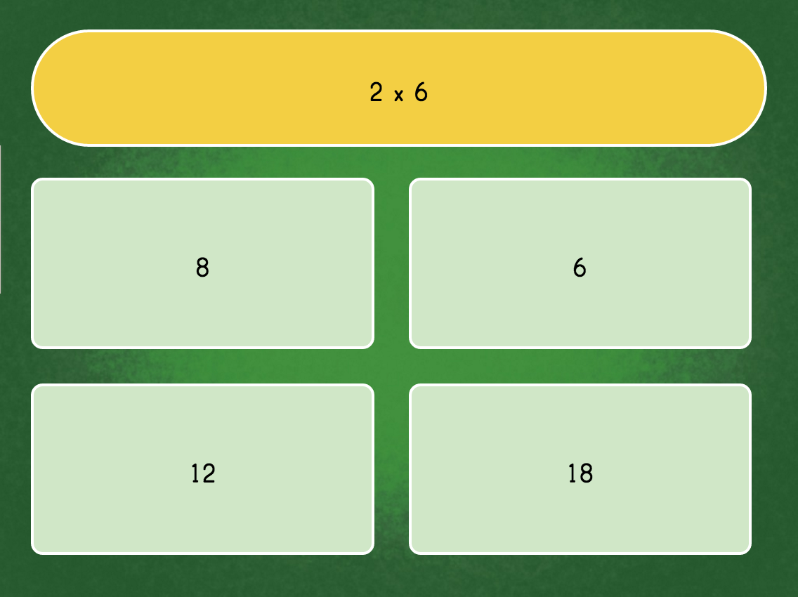 Multiply6 Quiz | Game | Education