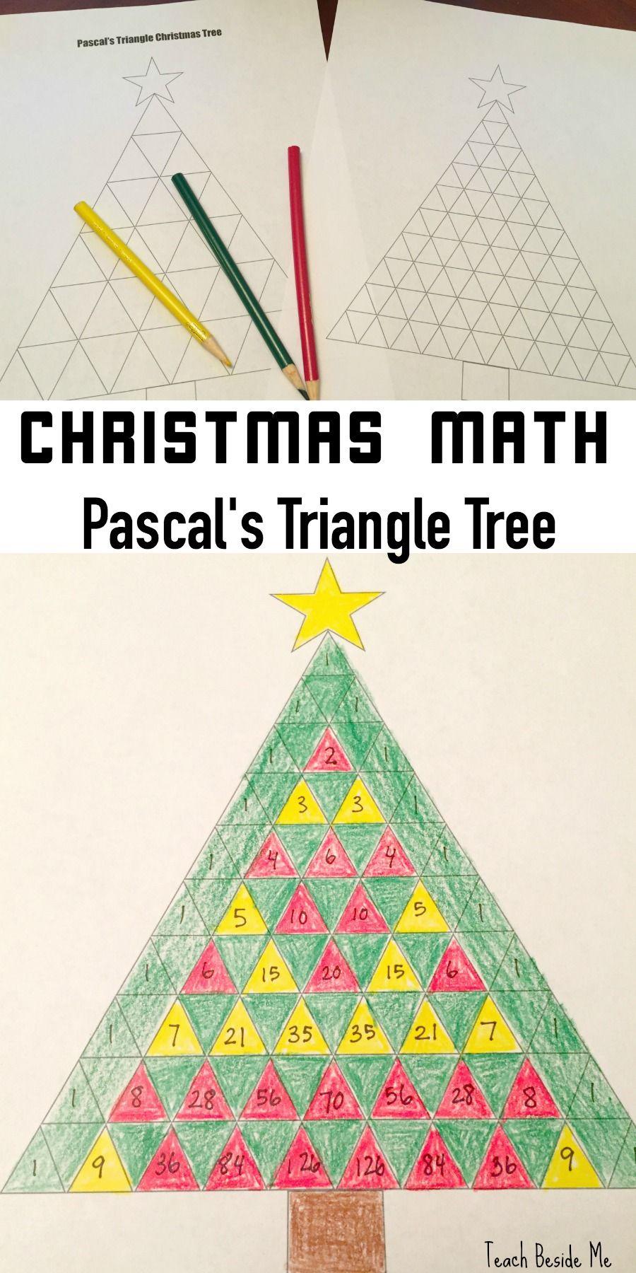 Pascal's Triangle Christmas Tree Math | Christmas Math