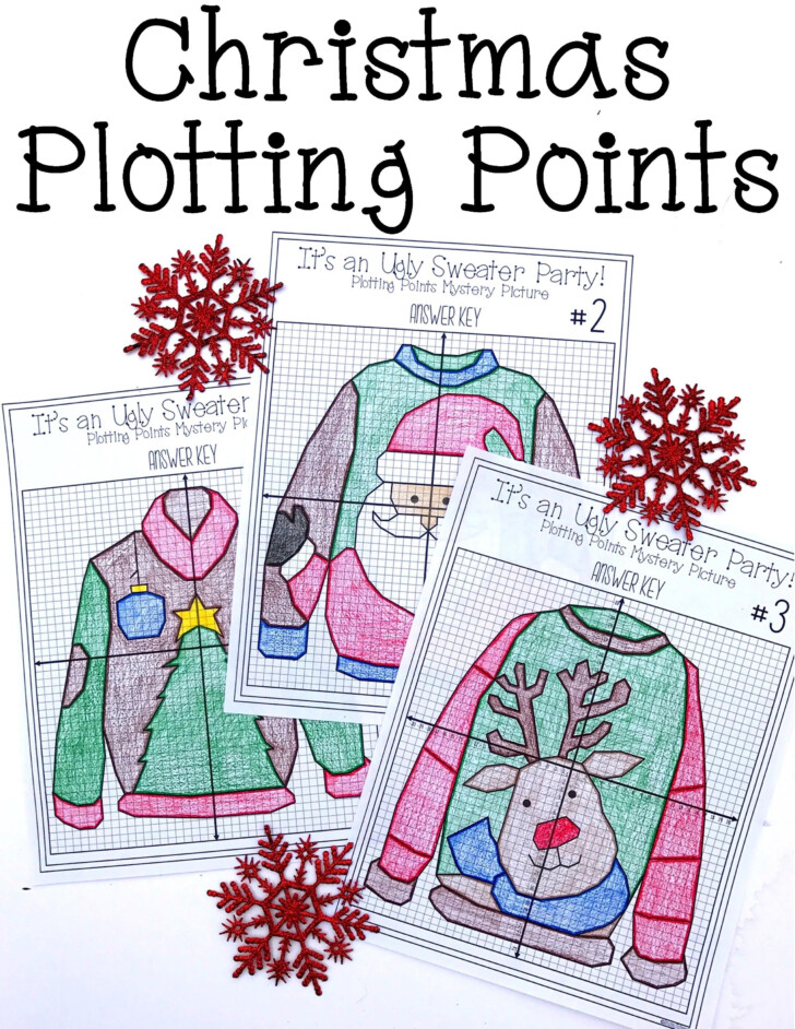 Ugly Christmas Sweater Math Worksheet Answer Key