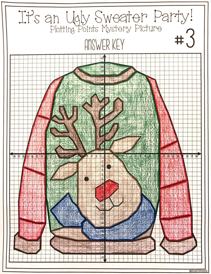 Amazing Mathematics Its An Ugly Christmas Sweater Worksheet Plot Points