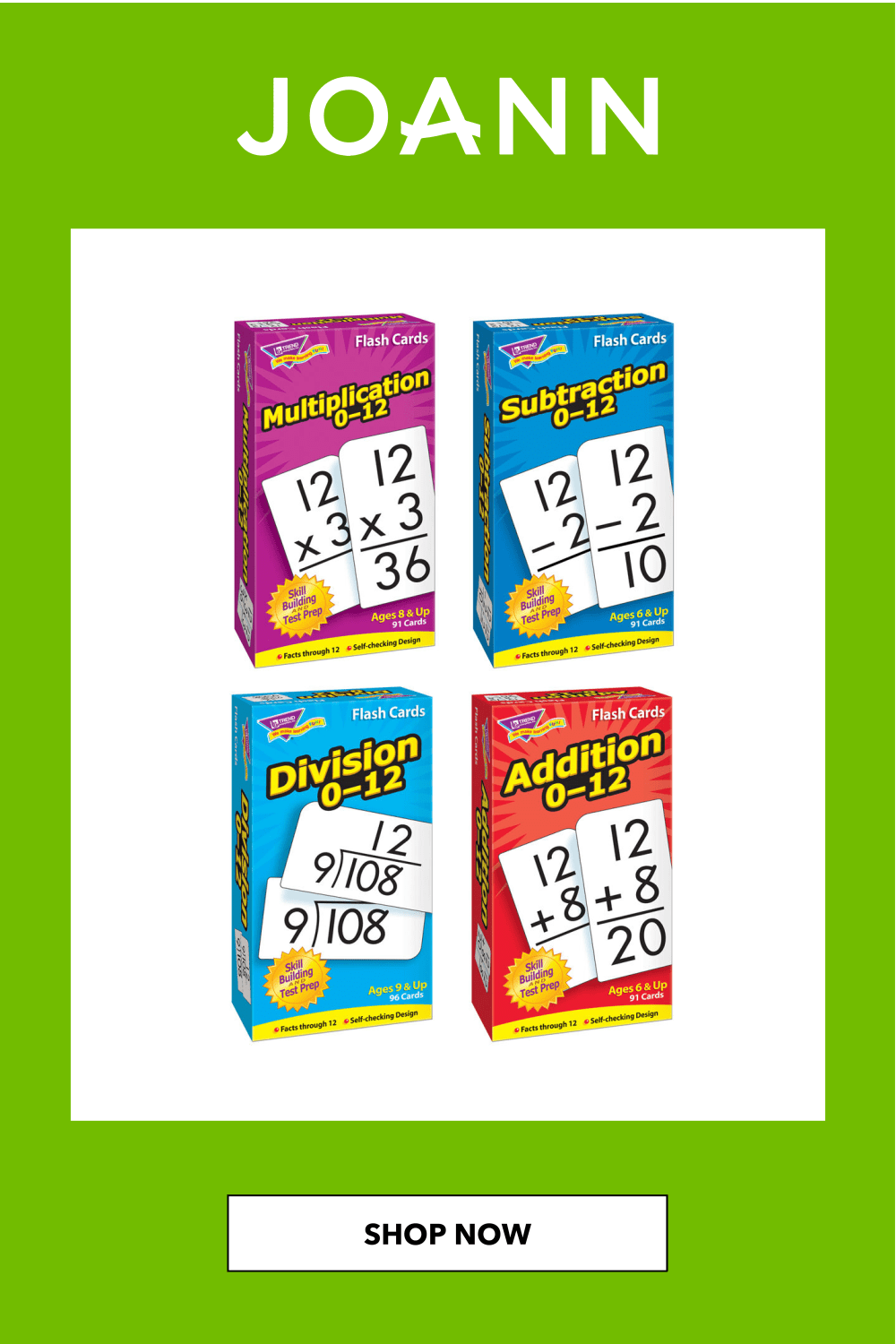 Pin On Trend Multiplication Flash Cards