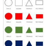 Preschool Math Shapes Flash Cards, Free Printable Pdf And