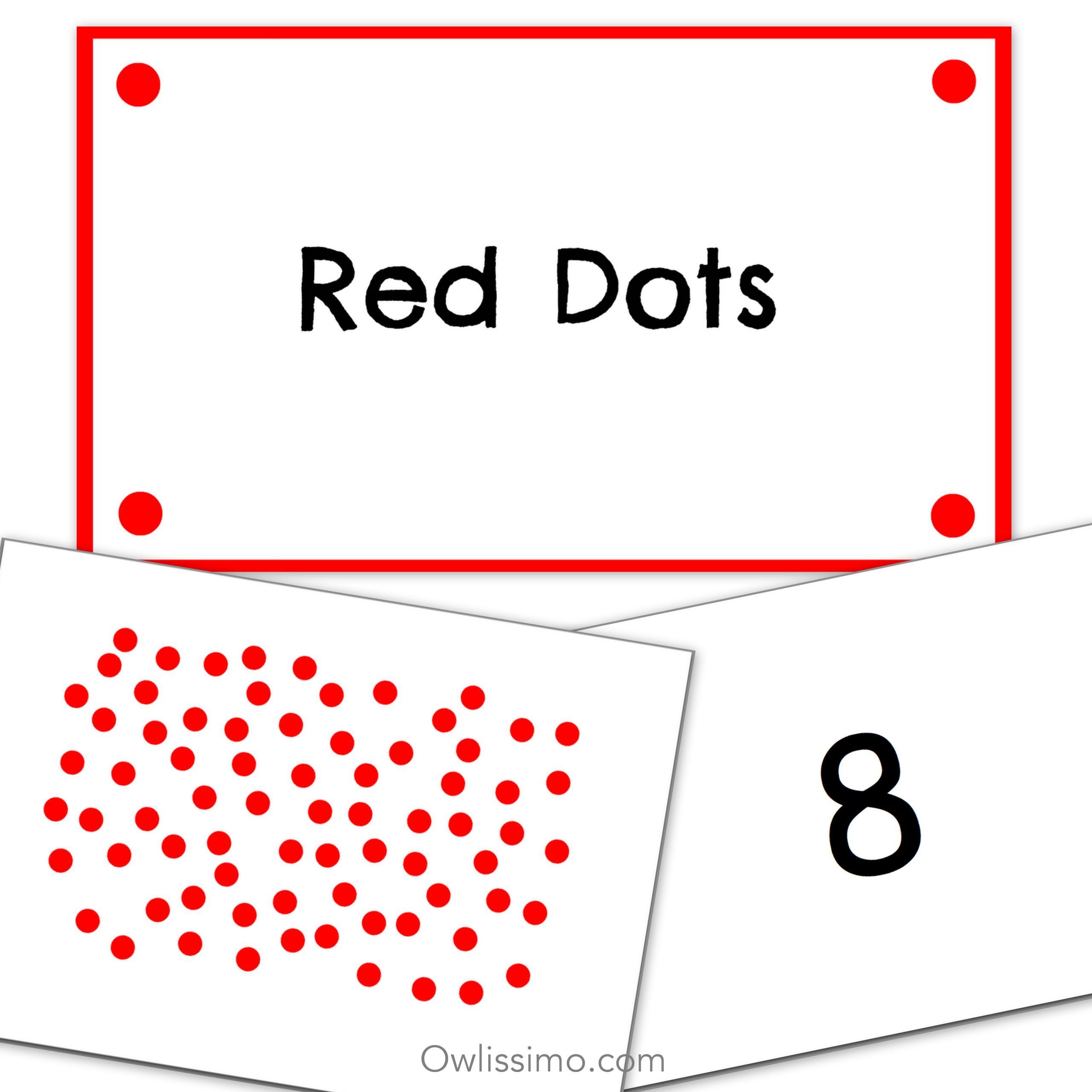 Printable Flashcards - Math Dots