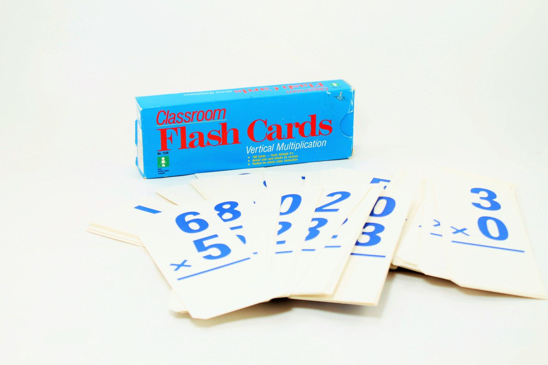 S A L E - 25% Off - Classroom Flash Cards, Multiplication Flash Cards, Math  Flash Cards, Flash Cards, School Decor