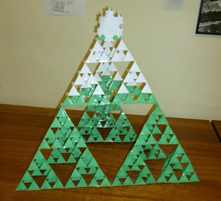 Sierpinski Triangle Christmas Tree Math Worksheet