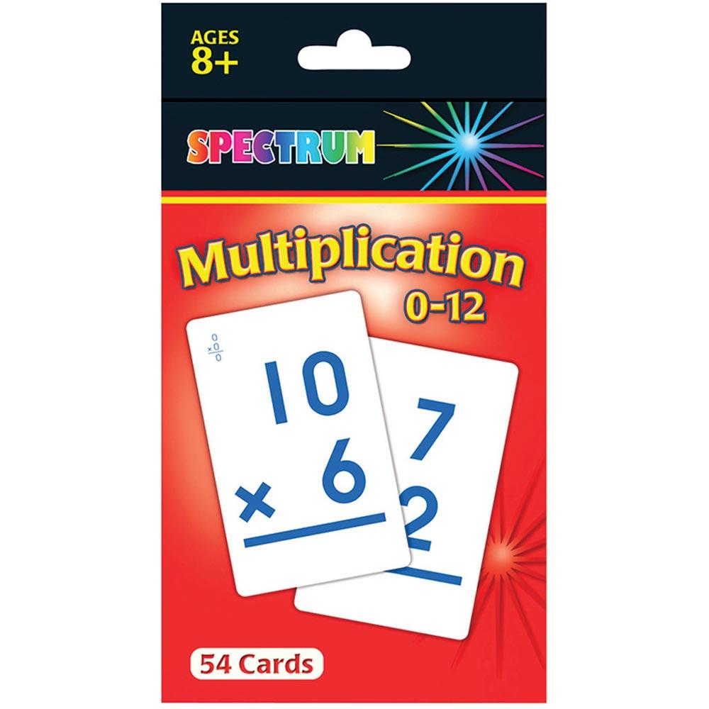 Spectrum Flash Cards Multiplication 0-12 Gr 3-5