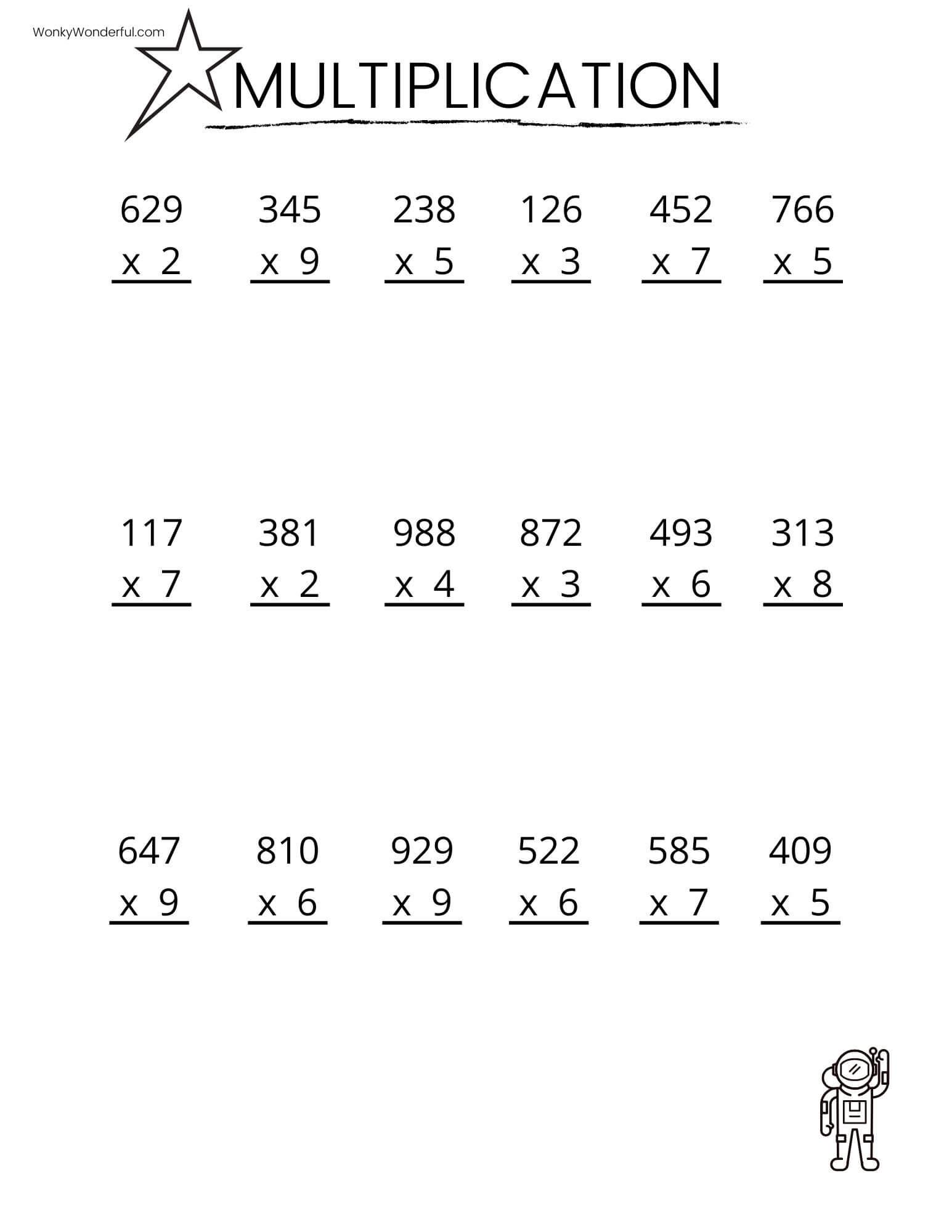 Stunning Grade Math Worksheets Printable Free Multiplication