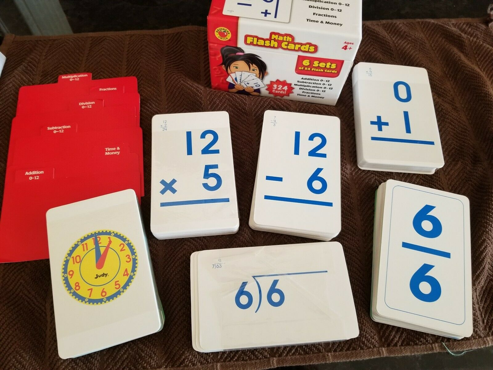Subtraction Division Math Flash Cards Ages 4+ Multiplication