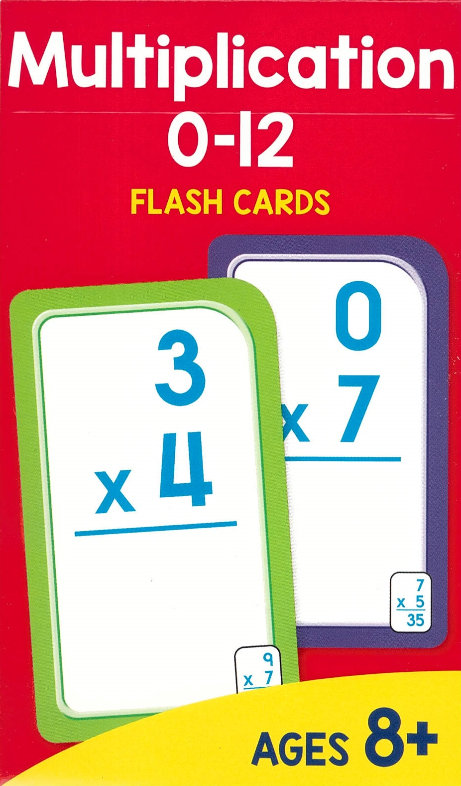 Sz Multiplication 0-12 Flash Cards (New Cover)