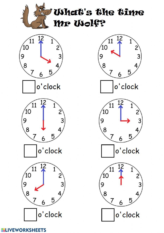 Telling Timethe Hour Worksheet
