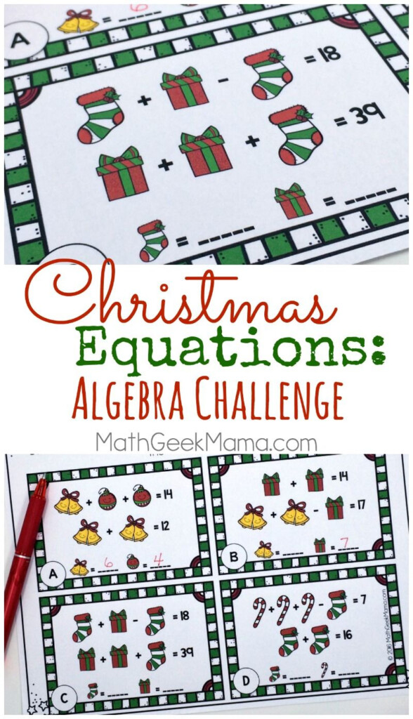This Set Of Free Christmas Equation Cards Can Be Useda