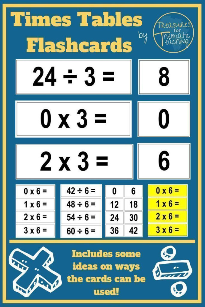 Times Tables Flashcards Multiplication And Division In 2020