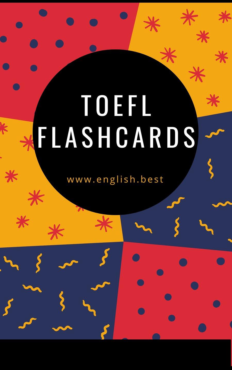 Toefl Flashcards (Pdf) | English.best Shop