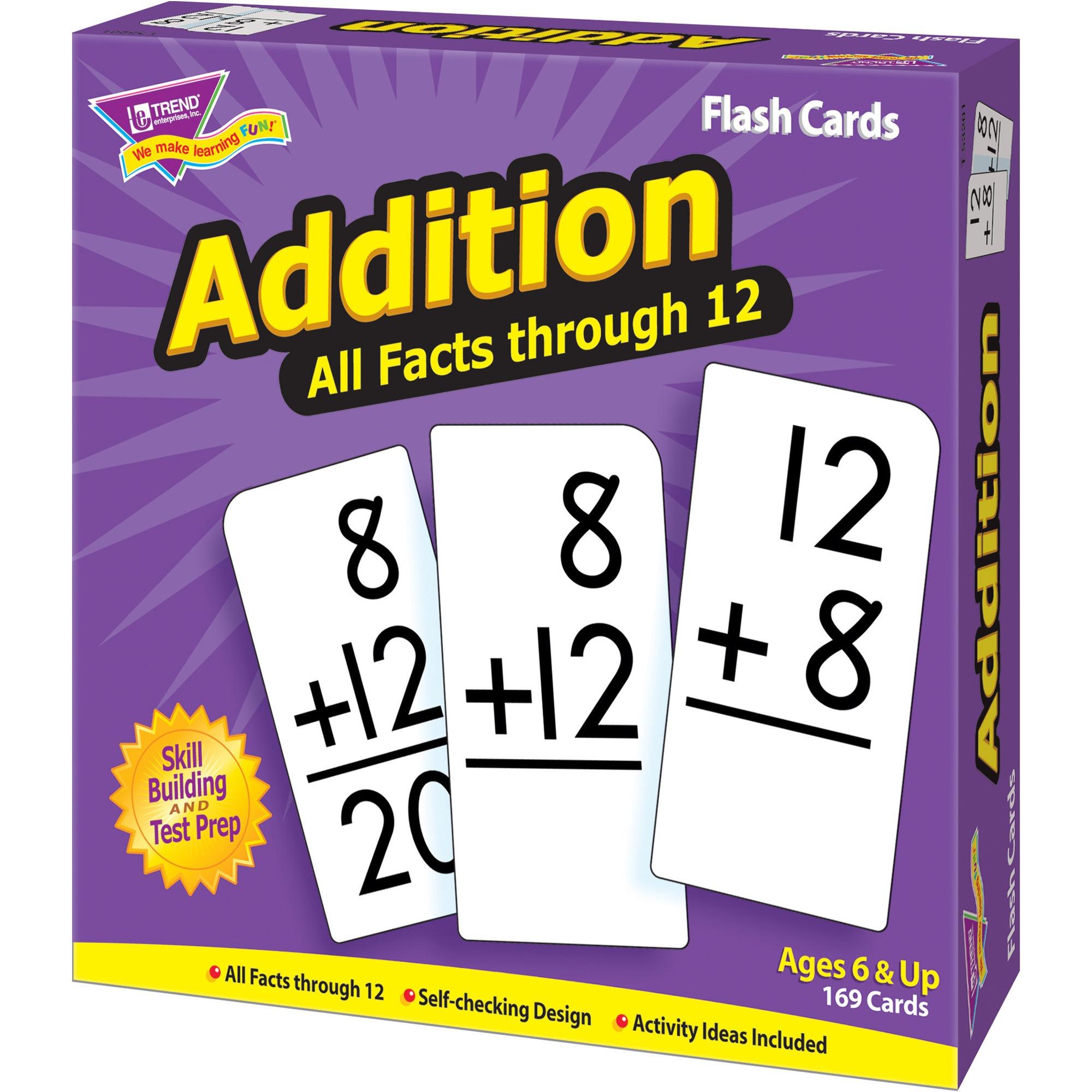 Trend Enterprises Inc Flash Cards All Facts 0-12