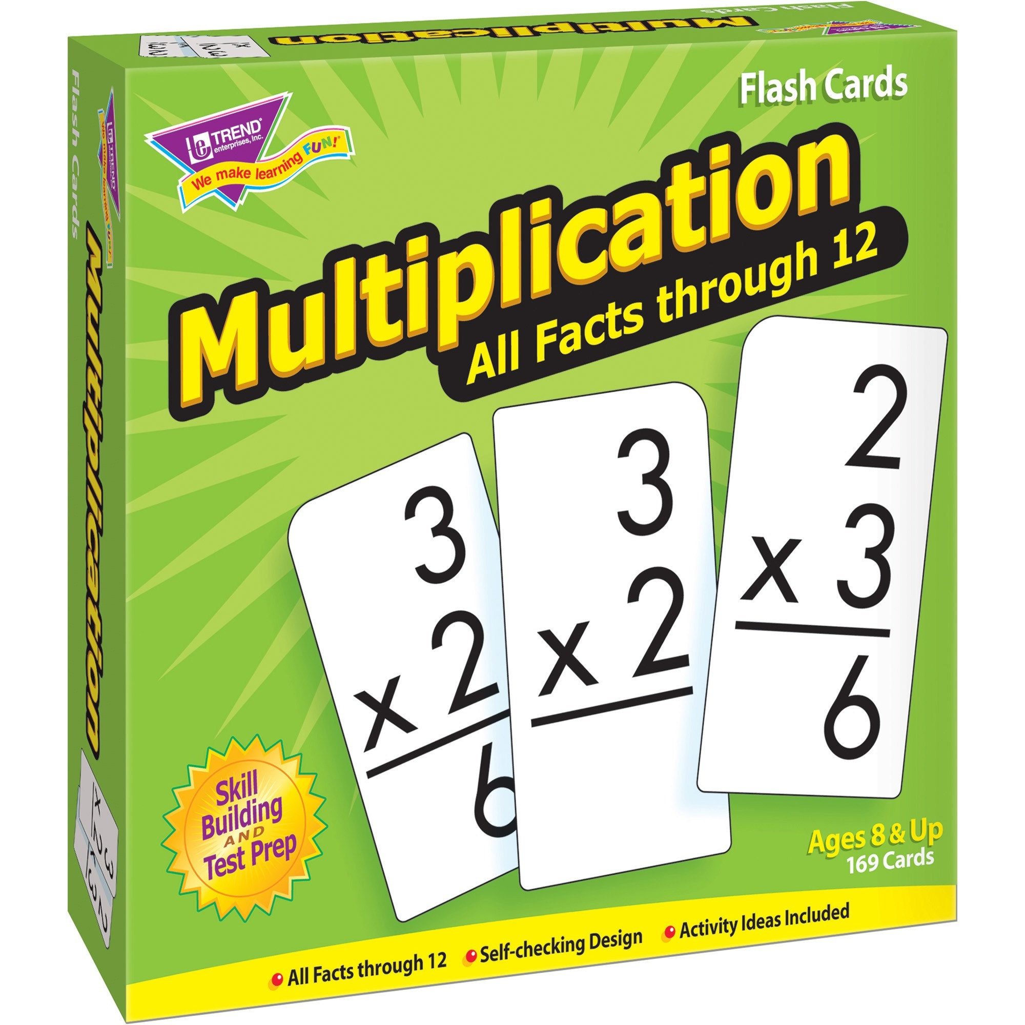 Trend, Tep53203, Multiplication All Facts Through 12 Flash Cards, 169 / Box  - Walmart