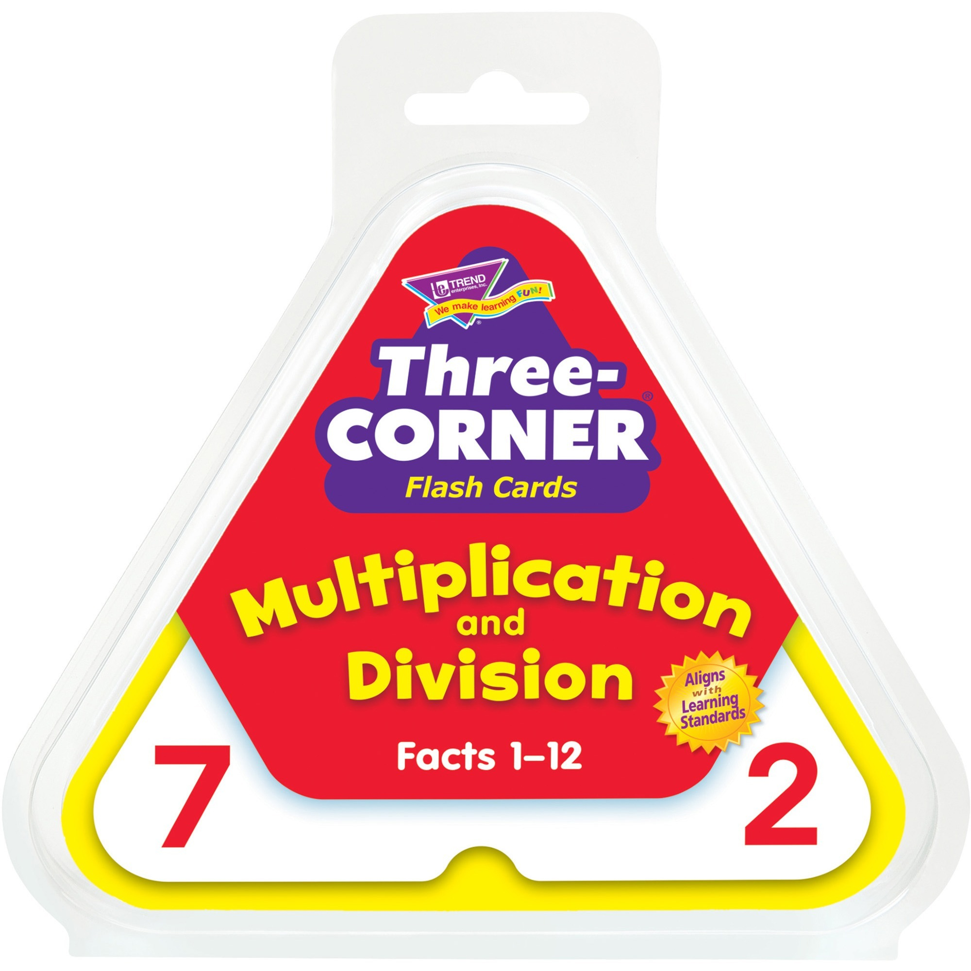 Trend, Tept1671, Multiplication/division Three-Corner Flash Card Set, 1 /  Set - Walmart