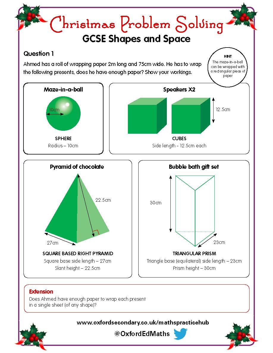 Try This Christmas Worksheet On Shapes And Space With Your