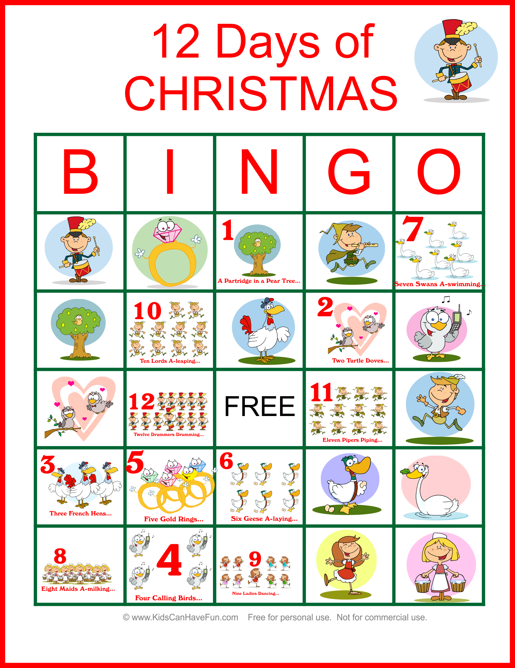 Twelve Days Of #christmas #bingo For The Whole Family Http