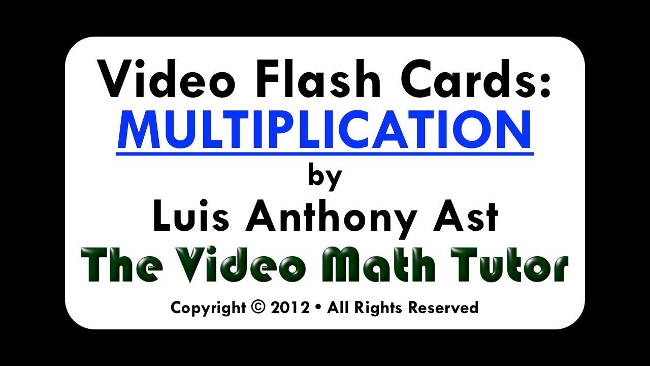 Video Flash Cards: Multiplication2