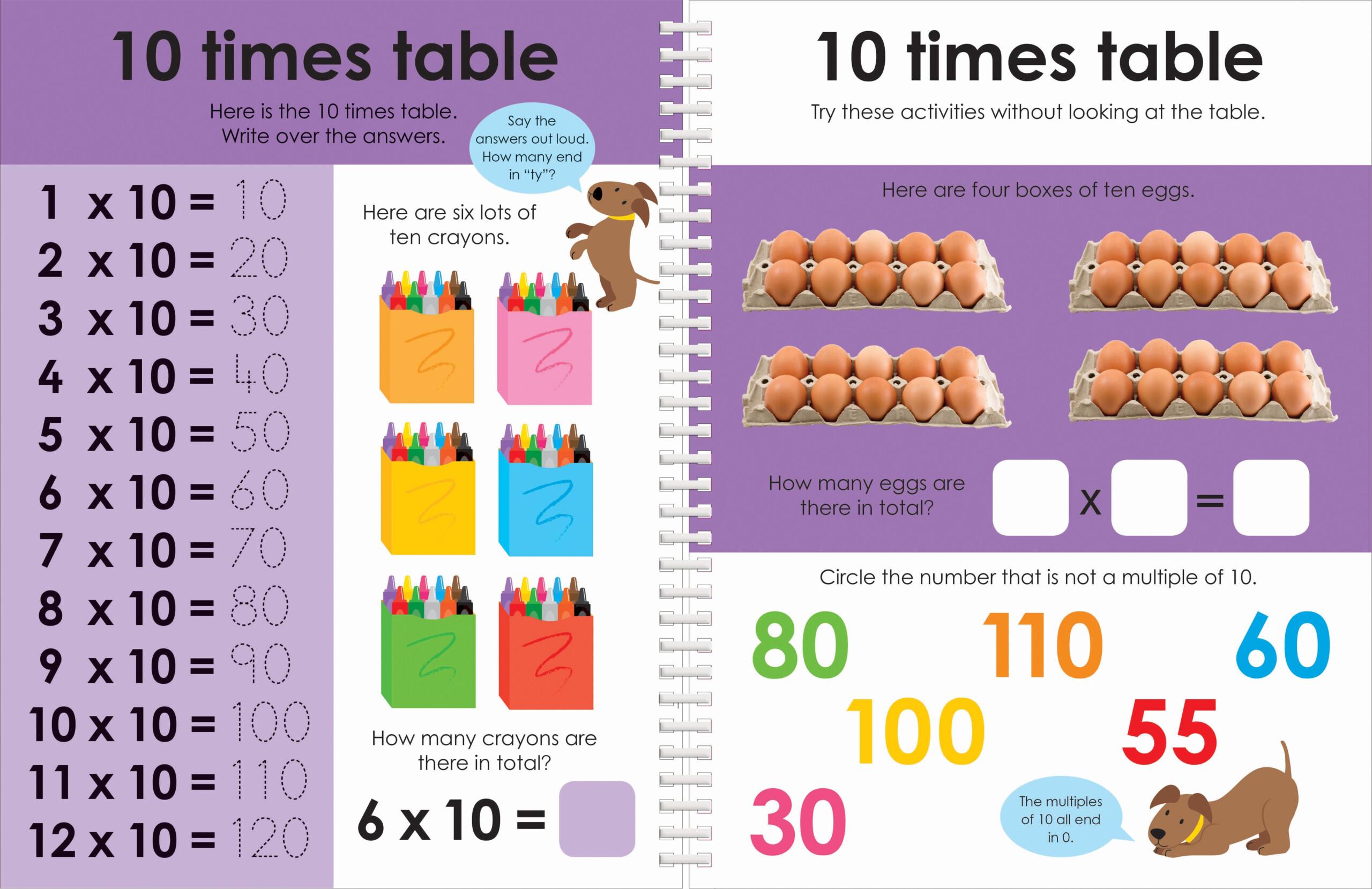 Wipe Clean Workbook: Times Tables (Enclosed Spiral Binding