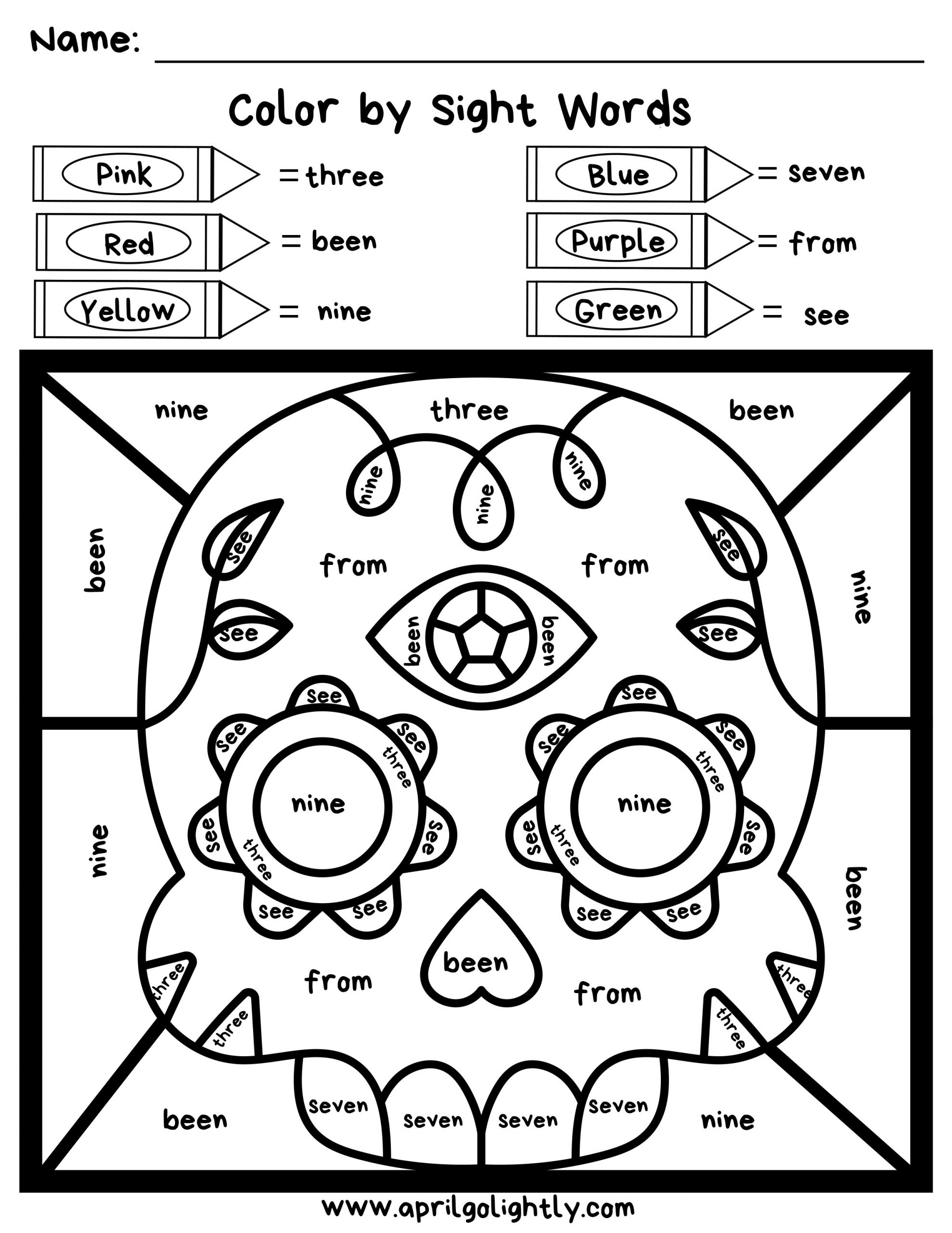 Worksheets Coloring Learning Preschool Sheets Free Colors