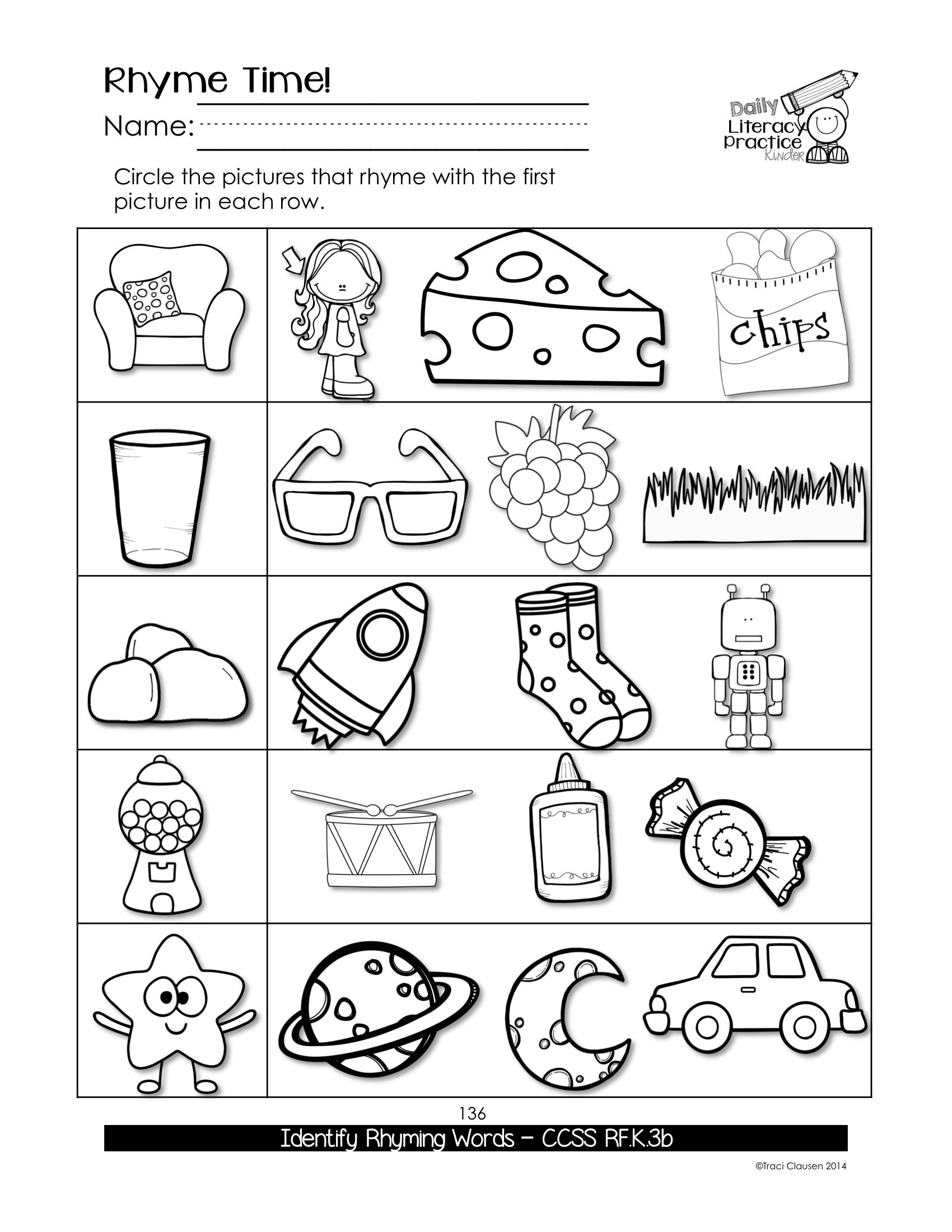 Worksheets : Reading Phonics And Writing Daily Literacy