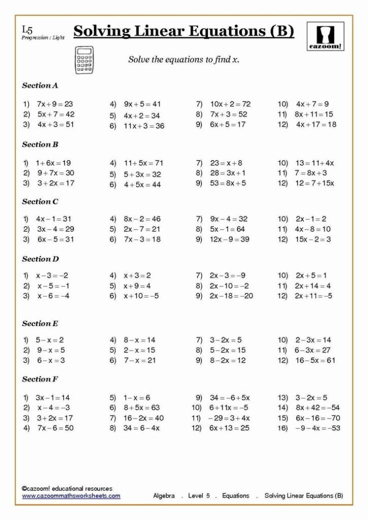 2 8th Grade Algebra Problems Worksheet Word Problems