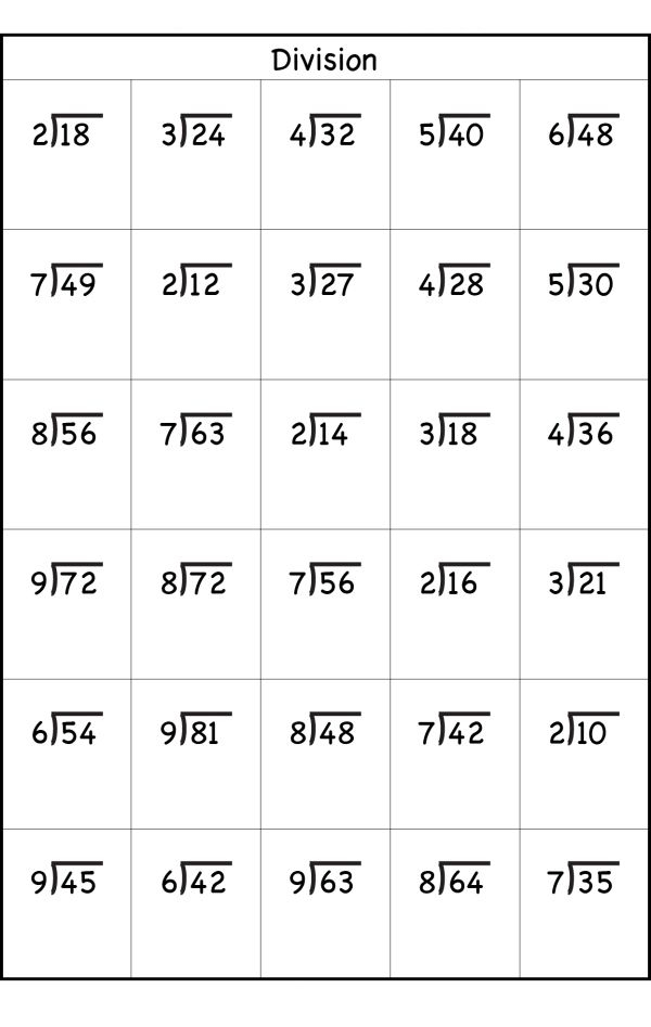 3rd Grade Division Worksheets Math Division Worksheets