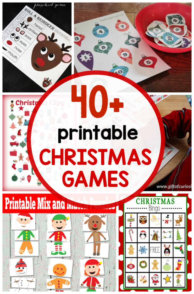 40 Free Printable Christmas Games For Kids The Measured Mom