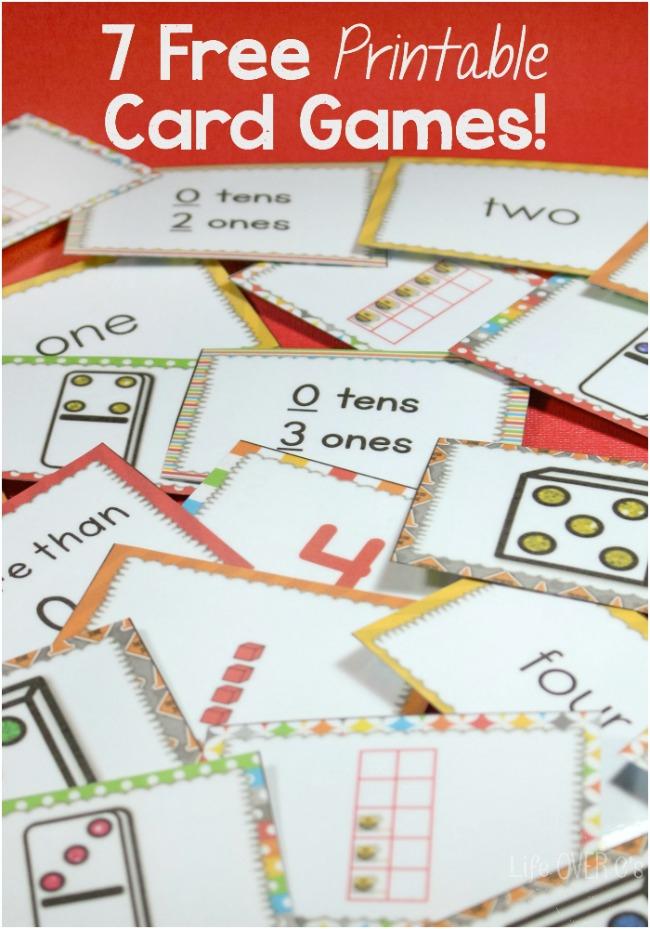 7 FREE Card Games For Math Free Homeschool Deals
