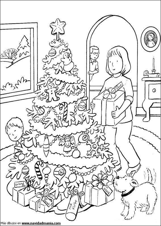 Dibujos Para Pintar De Familias En Navidad Colorear Im genes