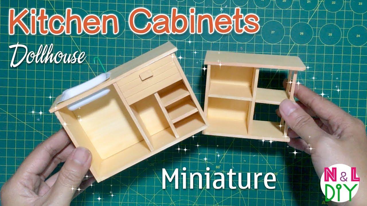 DIY Miniature Kitchen Cabinets How To Make Kitchen