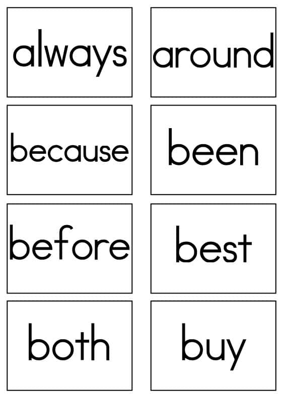 Dolch Sight Words Flash Cards Second Grade Sight Words