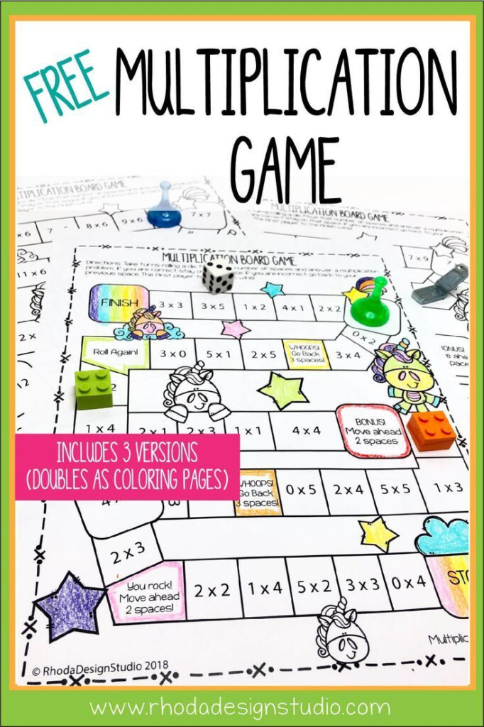 Easy To Use Free Multiplication Game Printables Math