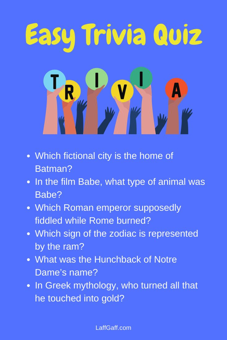Easy Trivia Questions And Answers In 2020 Trivia