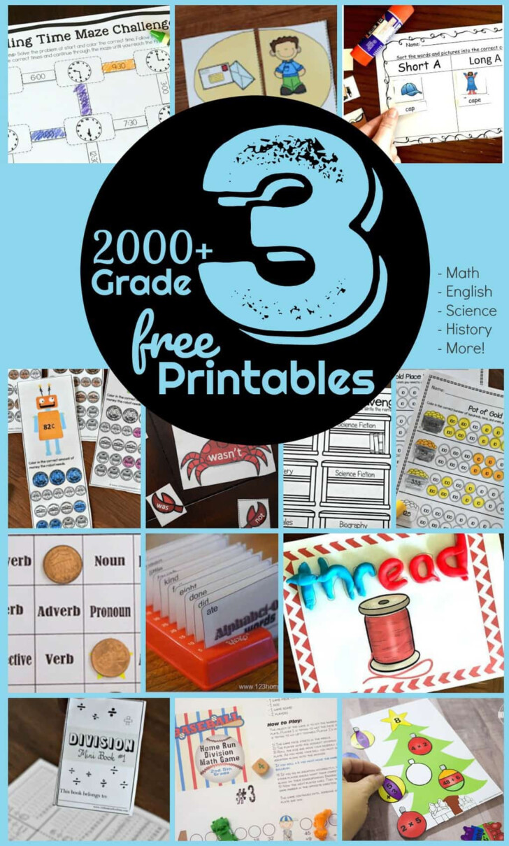 Free Printable 3rd Grade Multiplication Worksheets