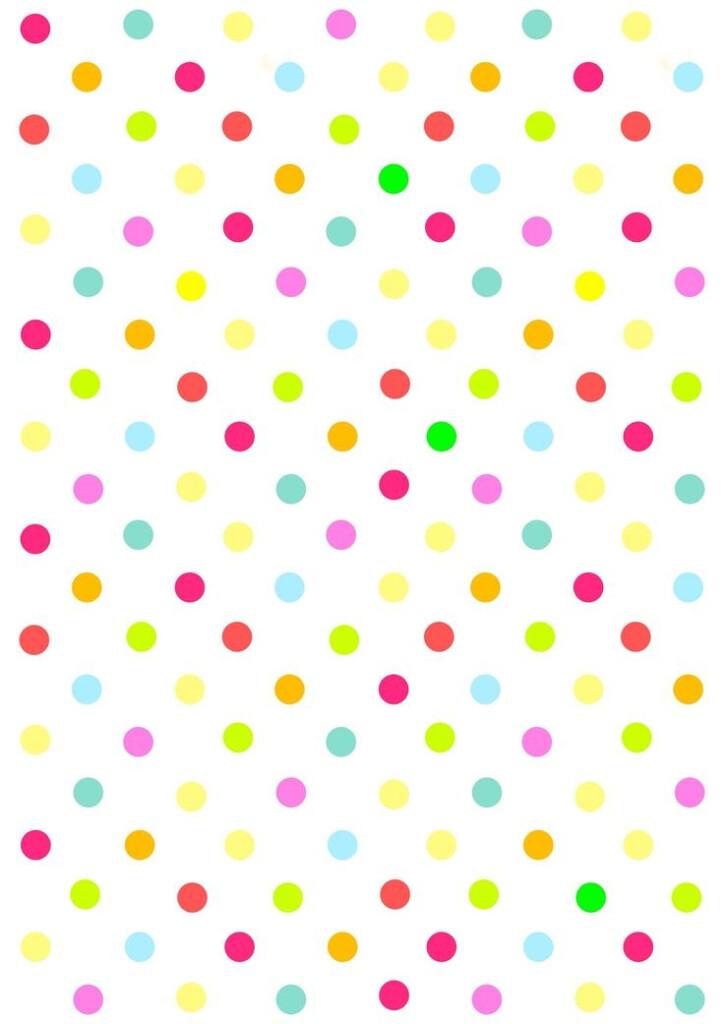 Free Digital Multicolored Polka Dot Scrapbooking Paper