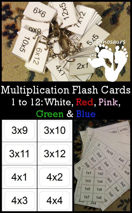 FREE Multiplication Flash Cards 1 12 Free Homeschool Deals