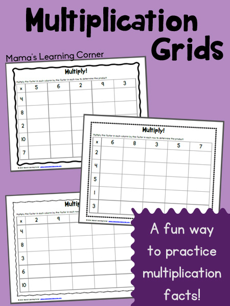 FREE Multiplication Grids Worksheet Free Homeschool Deals