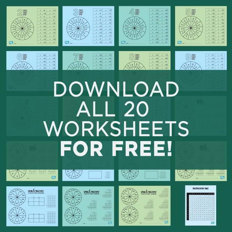 FREE Multiplication Printable Game