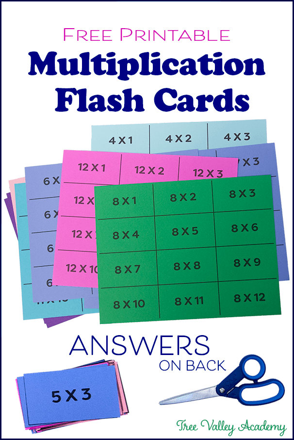 Multiplication Flash Cards Printable Front And Back Free