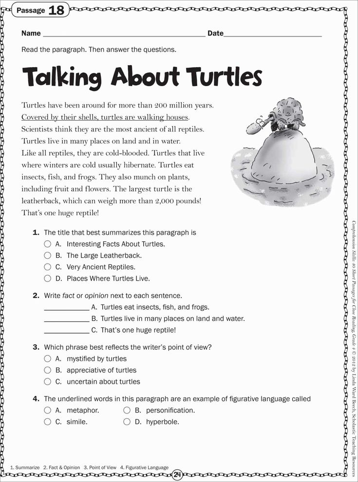 Free Printable Reading Worksheets For 2nd Grade Best Of
