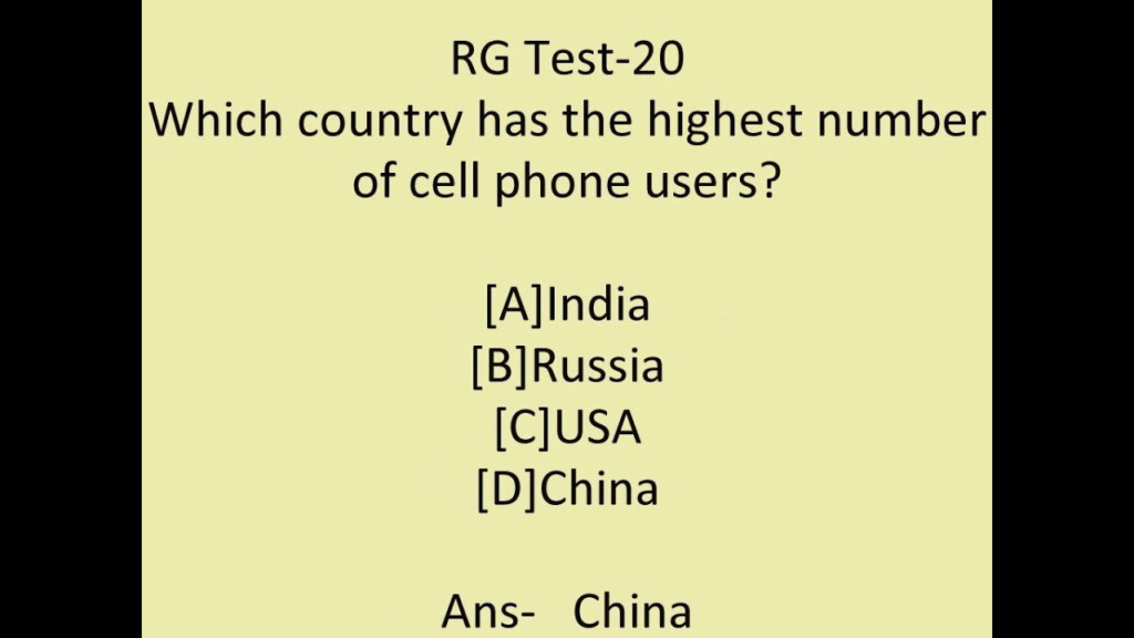 General Knowledge Question And Answer For Competitive