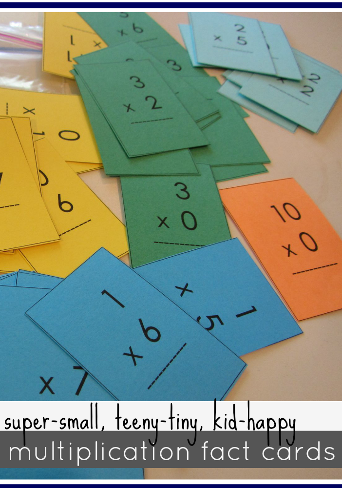 Mastering Multiplication Tables with Mini Flash Cards