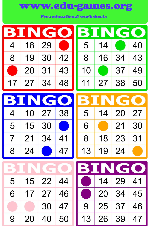 Math Bingo Free Printable PDF Math Bingo Cards