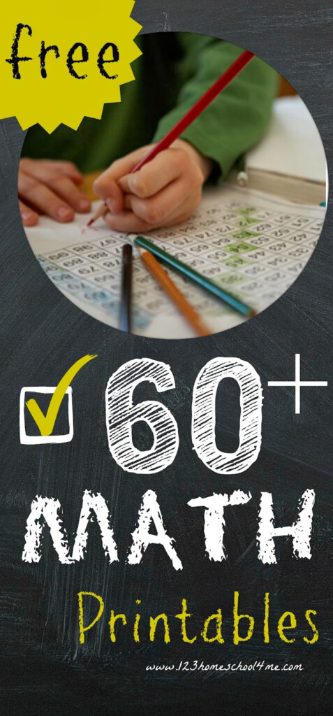 Math Worksheets Over 60 Free Math Printables PreK 3rd